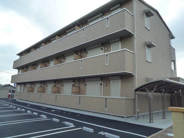 千葉県君津市、君津駅バス15分八重原下車後徒歩5分の築7年 3階建の賃貸アパート