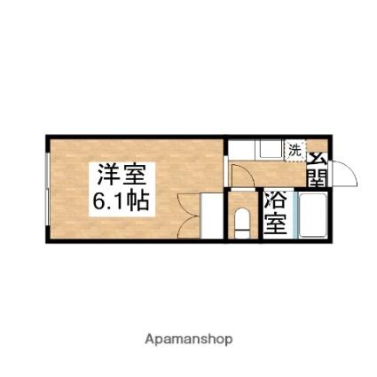 千葉県君津市陽光台1丁目[1R/19.63m2]の間取図