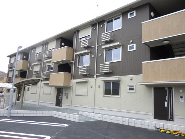 千葉県富津市、青堀駅徒歩9分の築2年 3階建の賃貸アパート