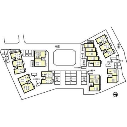 リシアンサス・ガーデン[1K/33m2]の配置図