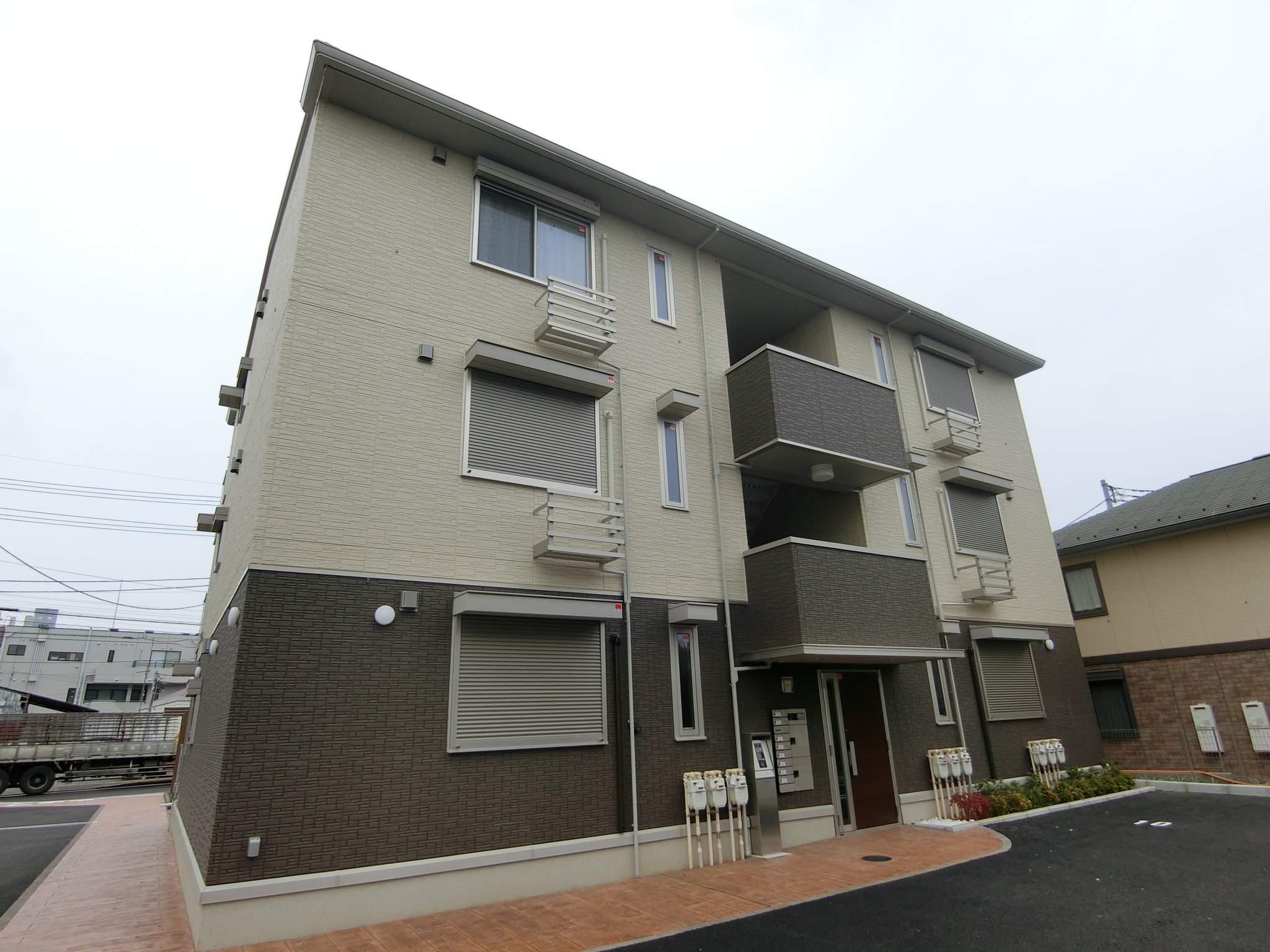 千葉県松戸市、高柳駅徒歩24分の新築 3階建の賃貸アパート