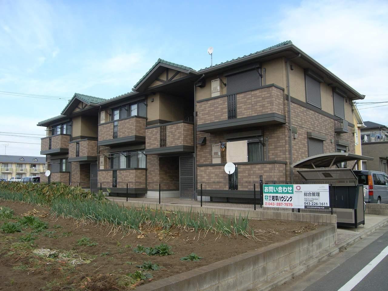 千葉県千葉市稲毛区、新検見川駅徒歩17分の築13年 2階建の賃貸アパート