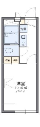 レオパレスコンフォートフレア[1K/19.87m2]の間取図