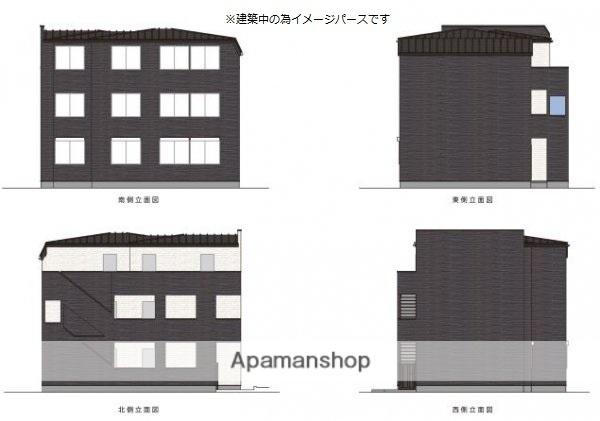 千葉県千葉市中央区、西千葉駅徒歩4分の新築 3階建の賃貸アパート