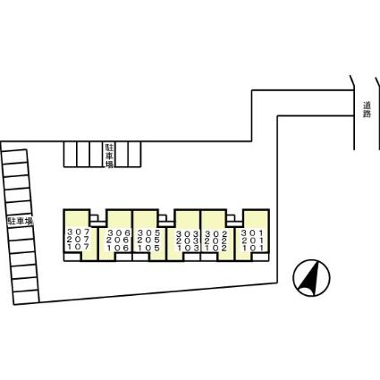 千葉県船橋市三山8丁目[3LDK/67m2]の配置図