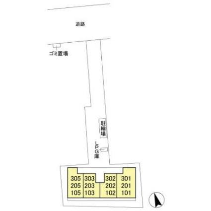 千葉県船橋市前原西1丁目[1LDK/33.09m2]の配置図