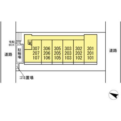 千葉県船橋市飯山満町2丁目[1LDK/33.78m2]の配置図