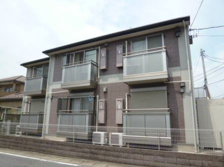 千葉県四街道市、四街道駅バス6分栗山下車後徒歩2分の築9年 2階建の賃貸アパート