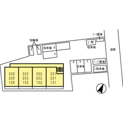 ヴェルデ神明町[1LDK/45.37m2]の配置図