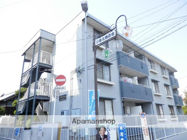 千葉県松戸市、新松戸駅徒歩20分の築27年 3階建の賃貸マンション