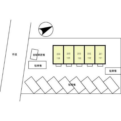 千葉県松戸市馬橋[1R/32.05m2]の配置図