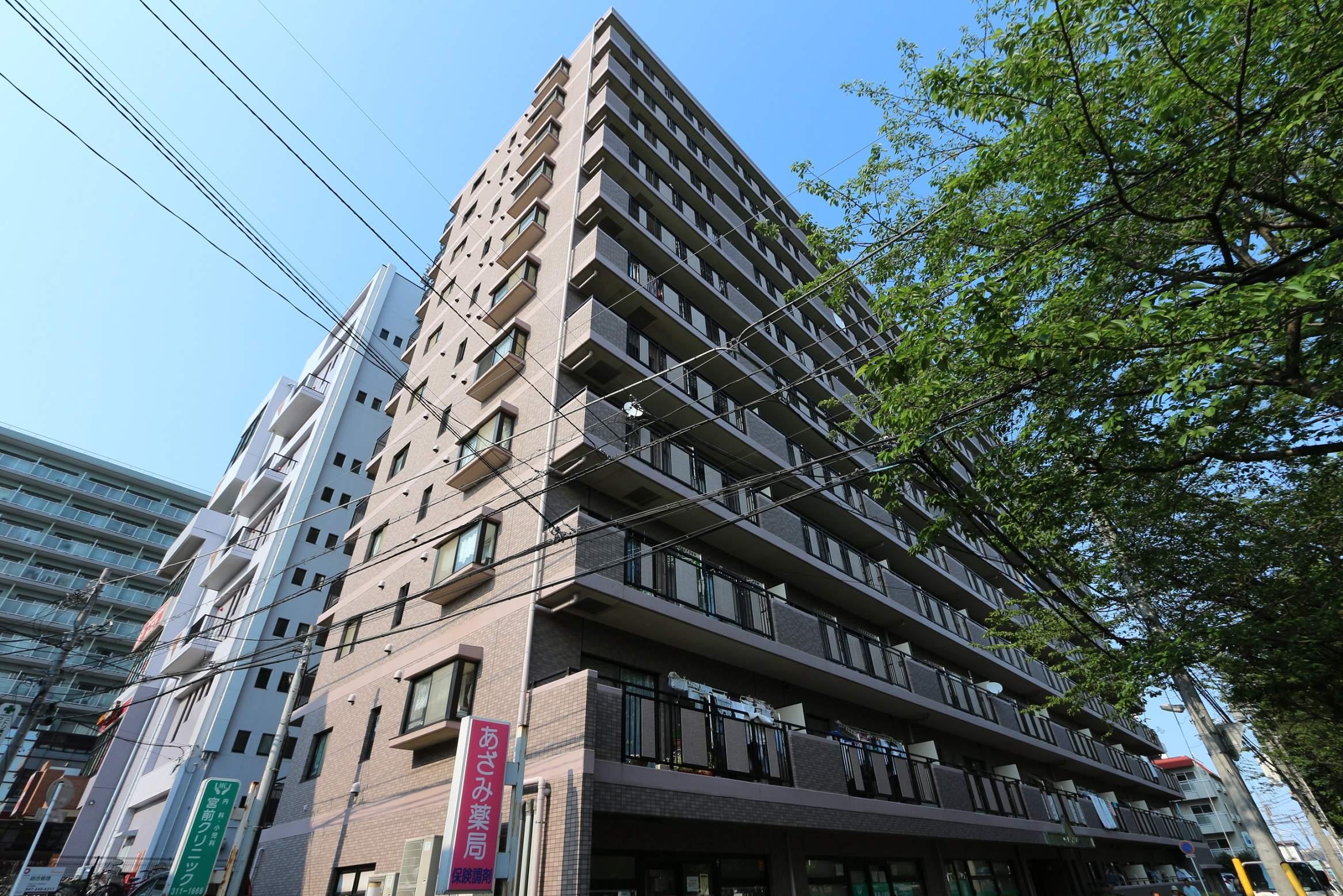 千葉県松戸市、新八柱駅徒歩4分の築18年 11階建の賃貸マンション