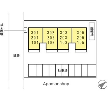 ソッリエーヴォ[1LDK/44.17m2]の配置図