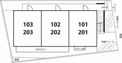 リブリ・ハウジング[1K/26.91m2]の配置図