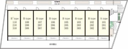 リブリ・江ヶ崎[1K/23.18m2]の配置図