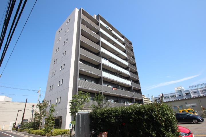 東京都江戸川区、新小岩駅徒歩18分の築5年 9階建の賃貸マンション