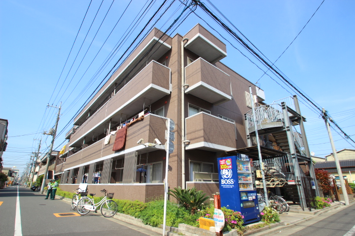 東京都江戸川区、新小岩駅徒歩23分の築14年 3階建の賃貸マンション