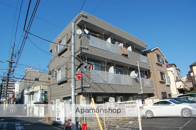 東京都江戸川区、新小岩駅徒歩7分の築24年 3階建の賃貸アパート