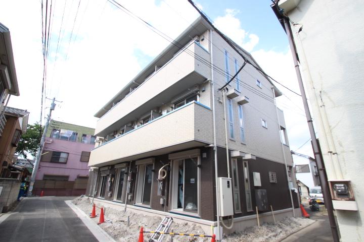 東京都葛飾区、新小岩駅徒歩21分の新築 3階建の賃貸アパート