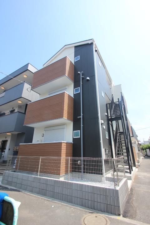 東京都葛飾区、平井駅徒歩28分の新築 3階建の賃貸アパート