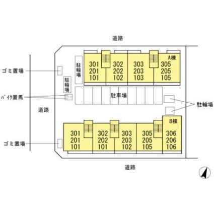 東京都江戸川区篠崎町2丁目[1LDK/46.61m2]の配置図