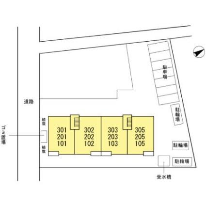 東京都江戸川区東葛西8丁目[3LDK/65.44m2]の配置図