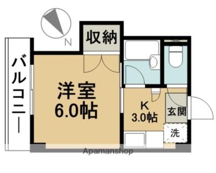 東京都江戸川区中葛西8丁目[1K/20m2]の間取図
