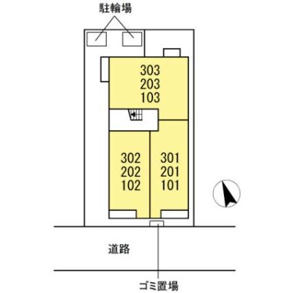 東京都江戸川区東葛西8丁目[1LDK/41.13m2]の配置図