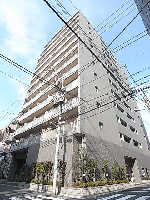 東京都江東区、越中島駅徒歩9分の築13年 12階建の賃貸マンション
