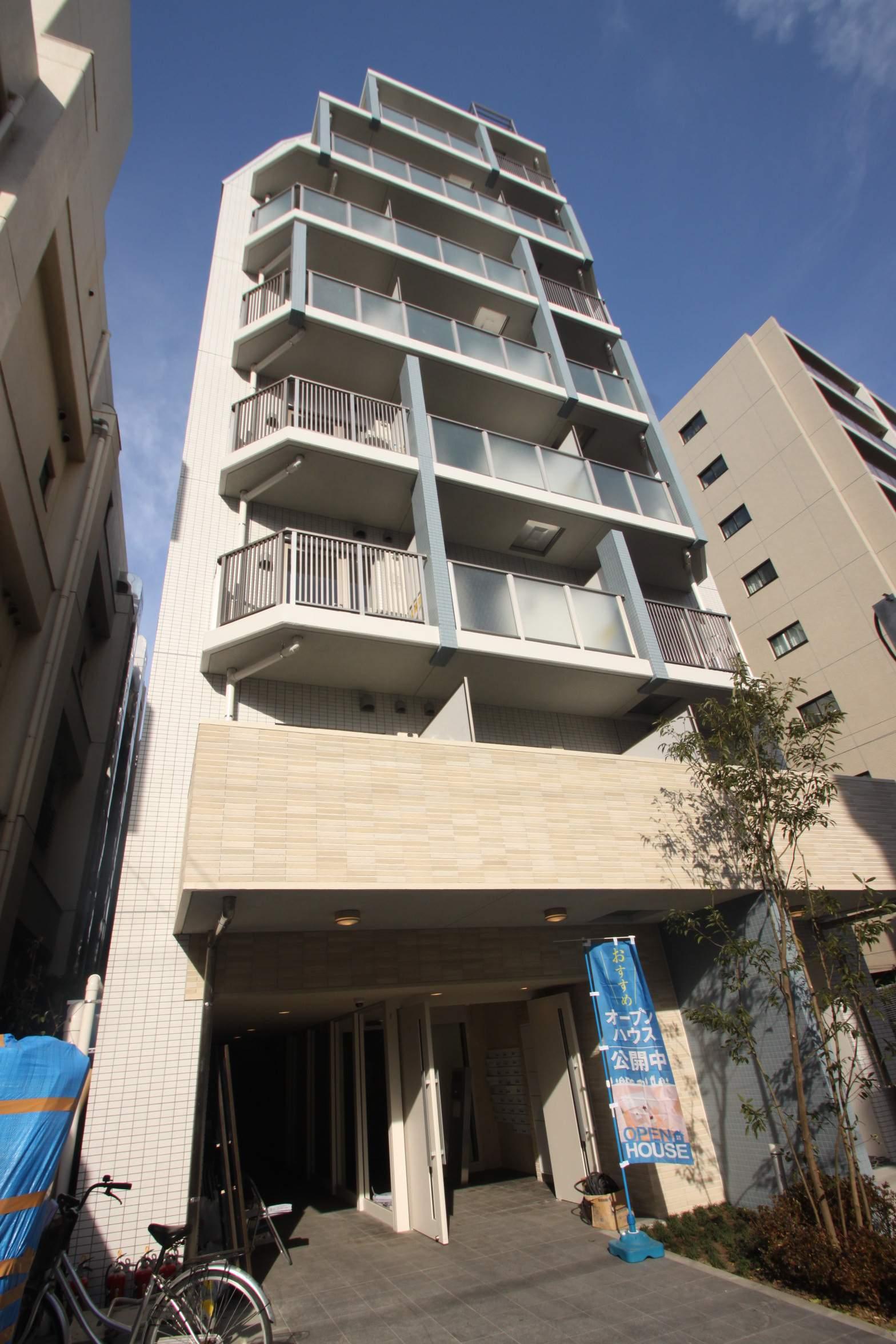 東京都江東区、門前仲町駅徒歩12分の新築 9階建の賃貸マンション