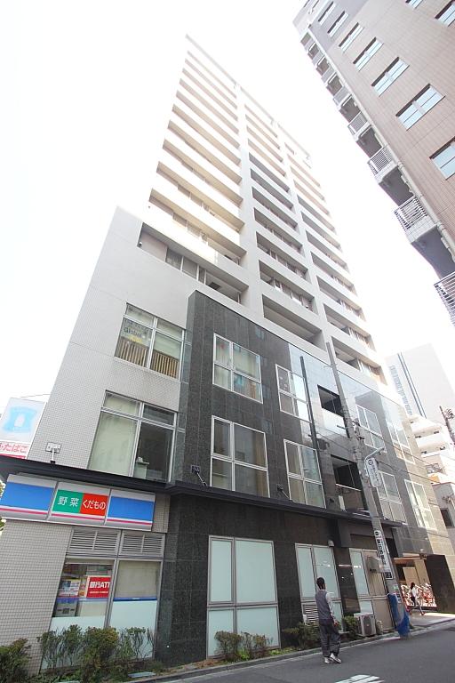 東京都中央区、八丁堀駅徒歩6分の築17年 14階建の賃貸マンション