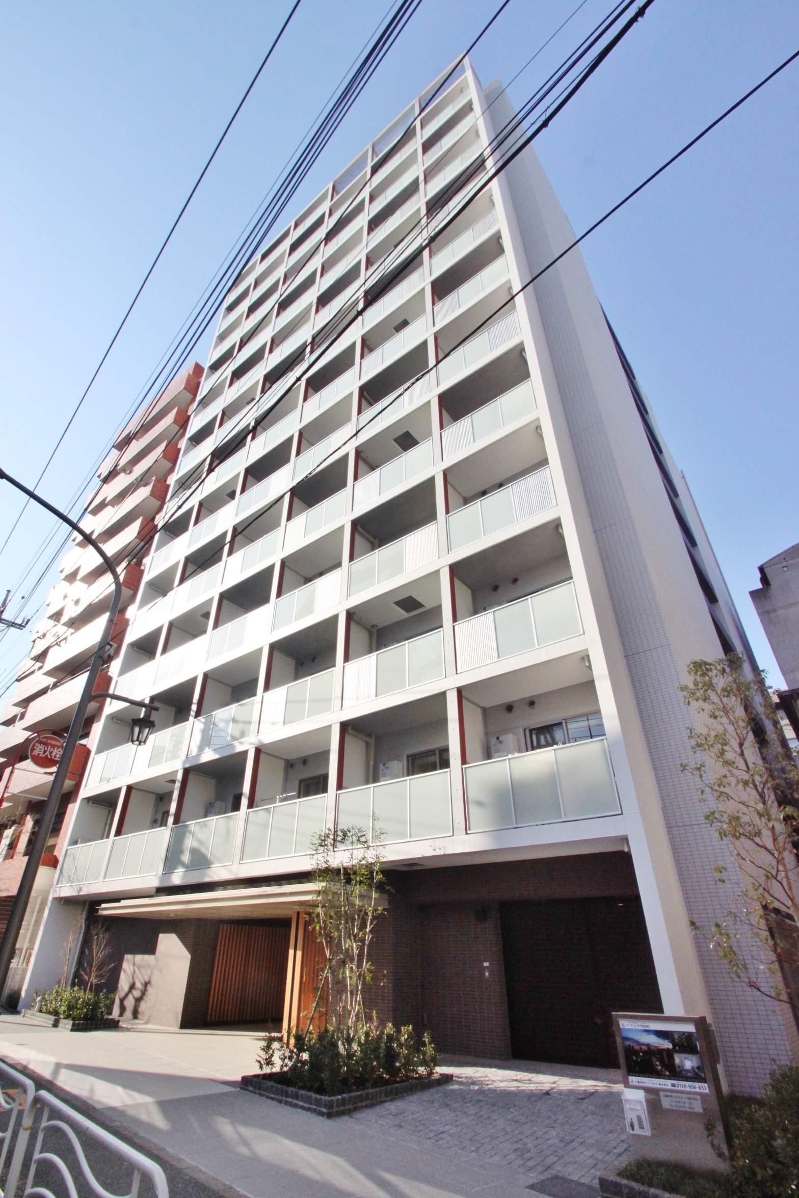 東京都江東区、越中島駅徒歩12分の築2年 13階建の賃貸マンション