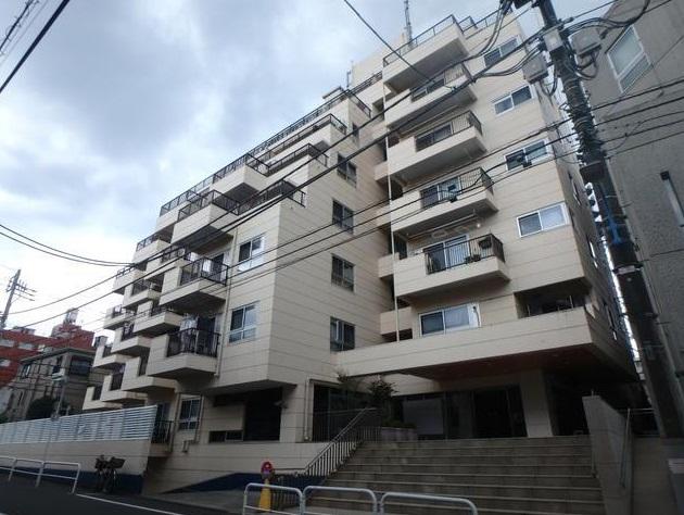 東京都新宿区、若松河田駅徒歩13分の築49年 9階建の賃貸マンション
