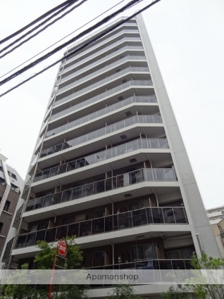東京都港区、新橋駅徒歩7分の新築 15階建の賃貸マンション