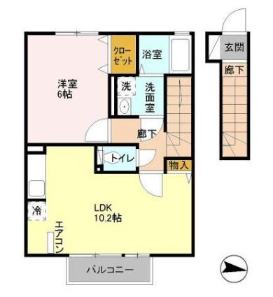 東京都日野市栄町2丁目[1LDK/40.07m2]の間取図