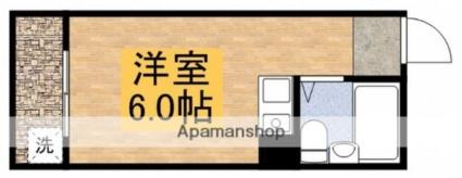 東京都三鷹市上連雀4丁目[1R/14.02m2]の間取図