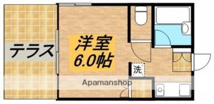 東京都武蔵野市御殿山2丁目[1K/20.46m2]の間取図