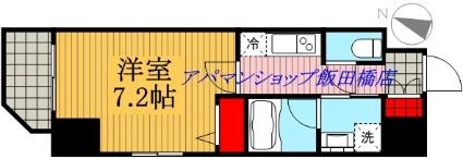 ZOOM九段下[1K/26.23m2]の間取図