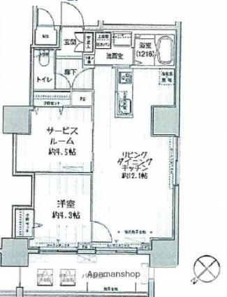 東京都荒川区西日暮里2丁目[1SLDK/52.8m2]の間取図