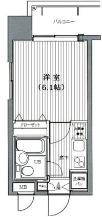 東京都港区芝浦2丁目[1K/18.91m2]の間取図