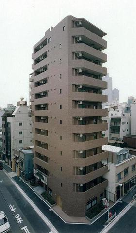 東京都中央区、八丁堀駅徒歩4分の築17年 12階建の賃貸マンション