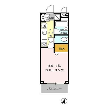 東京都練馬区貫井4丁目[1K/22.08m2]の間取図