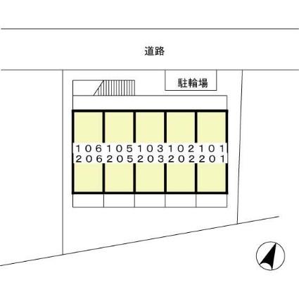 東京都練馬区貫井4丁目[1K/22.08m2]の配置図