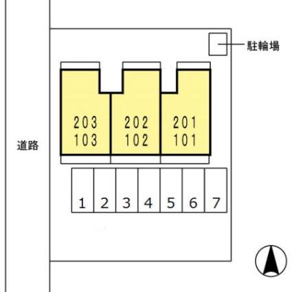 プリマヴェーラS[2LDK/54.62m2]の配置図
