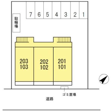 エンゼル・パル一番館[2LDK/55.28m2]の配置図