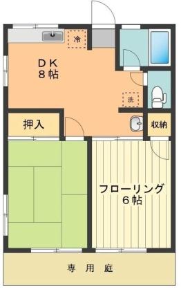 東京都羽村市羽中2丁目[2DK/41.31m2]の間取図
