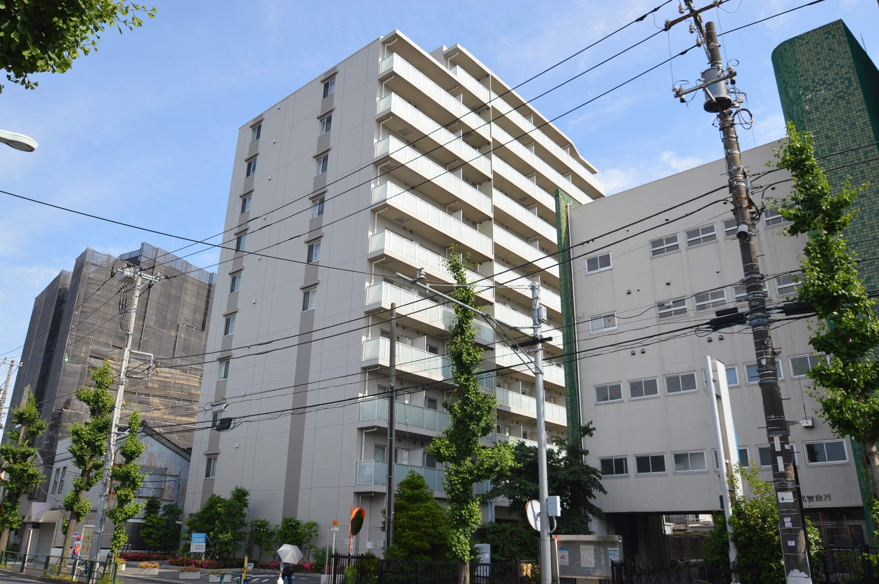 東京都北区、十条駅徒歩2分の築7年 12階建の賃貸マンション
