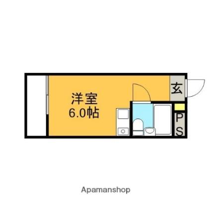 東京都杉並区松庵3丁目[1R/14.4m2]の間取図