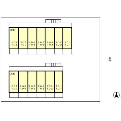 東京都小金井市梶野町1丁目[1K/22.52m2]の配置図