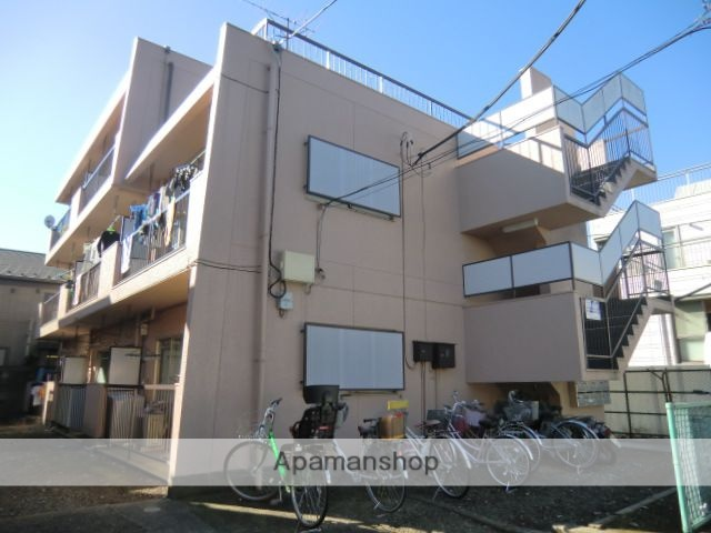 東京都杉並区、富士見ヶ丘駅徒歩11分の築39年 3階建の賃貸マンション